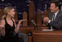 Scarlett Johansson in Tonight with Jimmy Fallon show